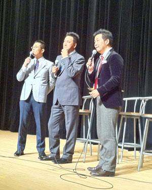20111207落合英二トークショー with 大澤・若狭アナ