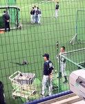 120401井上コーチと谷繁さん
