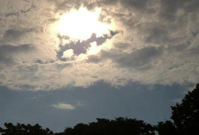 金環日食の空