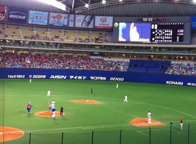 2013/4/13ナゴヤドーム観戦!!始球式はスギちゃん!!